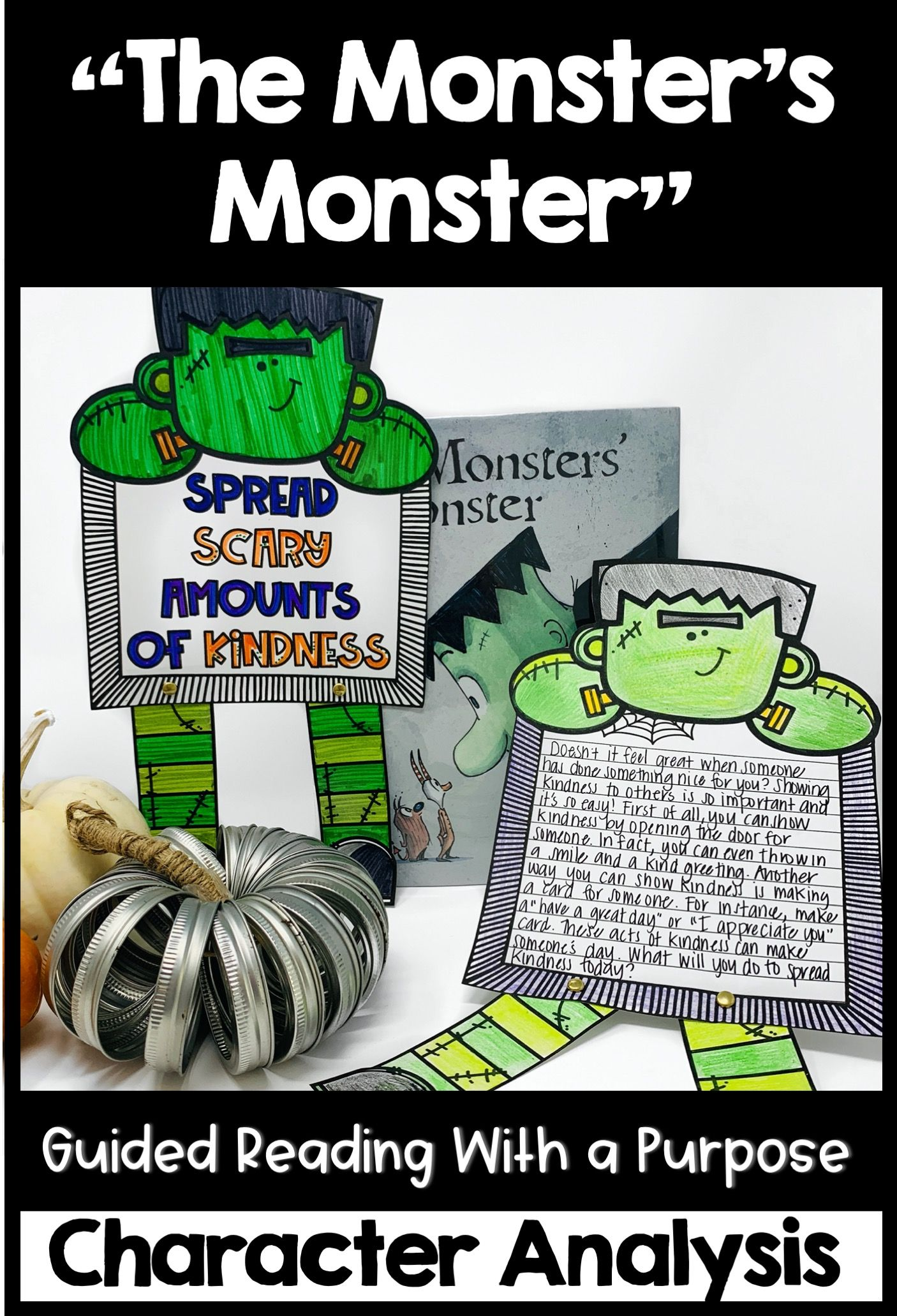 The Monster S Monster Guided Reading Activities Character