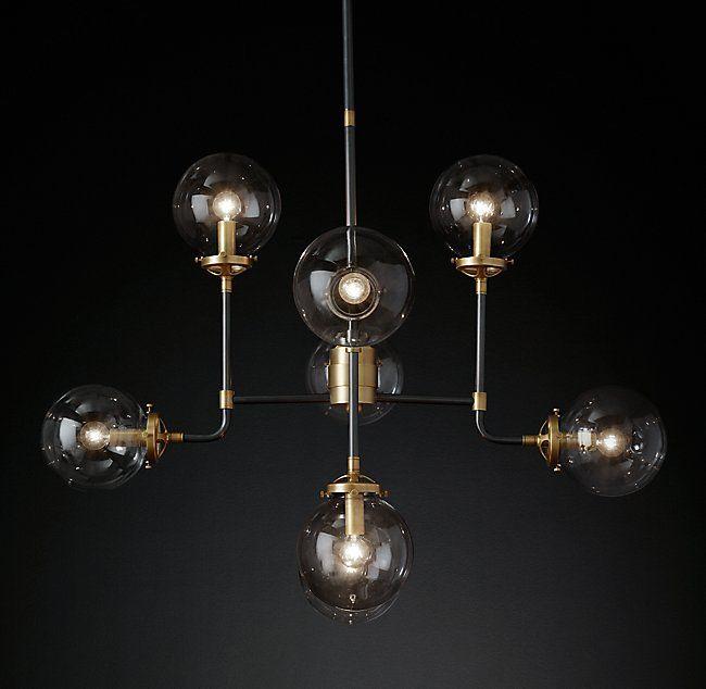Bistro globe clear glass chandelier 8 light fine entryway bistro globe clear glass chandelier 8 light aloadofball Gallery