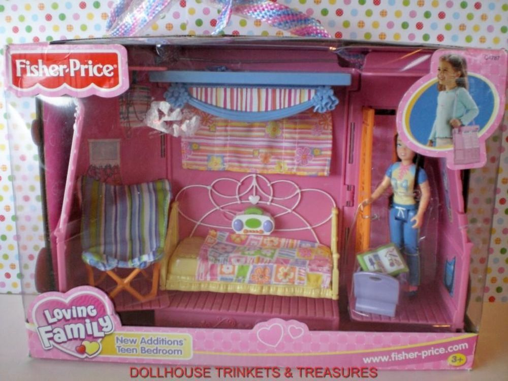 Fisher Price Loving Family Dollhouse New Additions Teen Bedroom Set ...