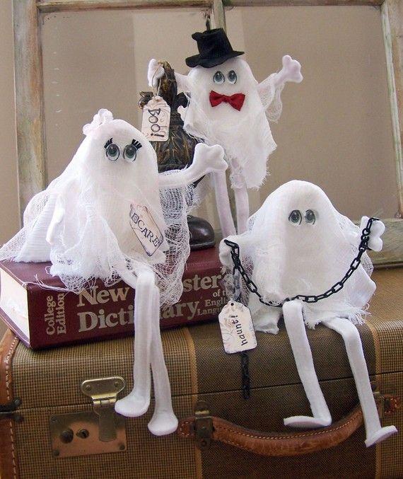 Three Ghosts Halloween Decor Spooky Shelf Sitter Fall Autumn STTPP - halloween ghost decor