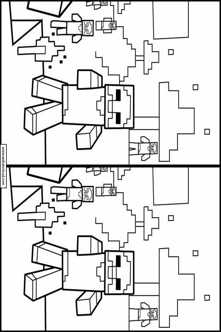 Imprimir Minecraft Descubra As Diferencas 7 Minecraft Para Imprimir Jogos Para Imprimir Atividades
