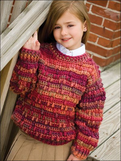 Crocheted Pullover Sweater Pattern