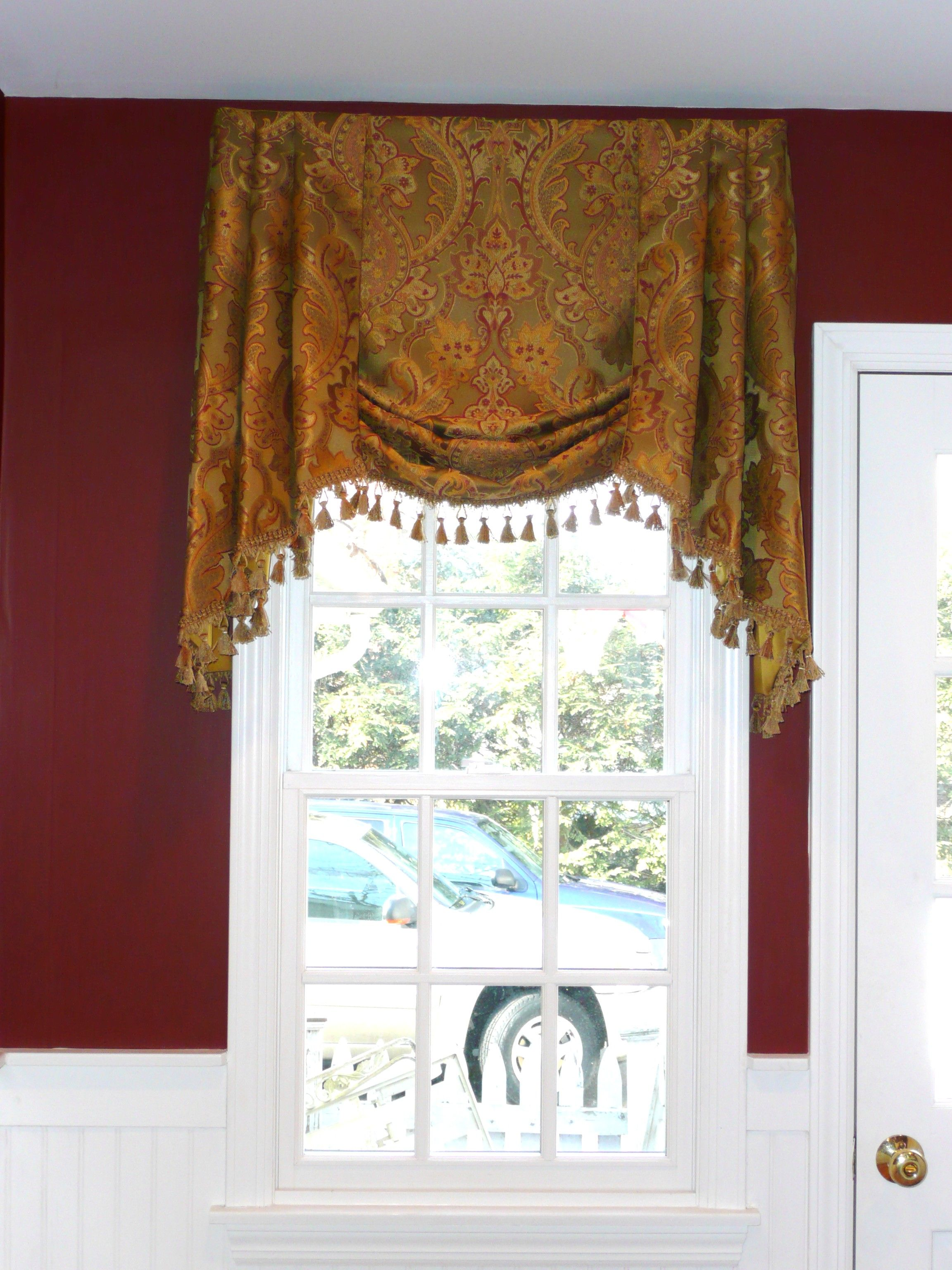 blind pinterest hung this pin valance like it bedroom i high roman windows