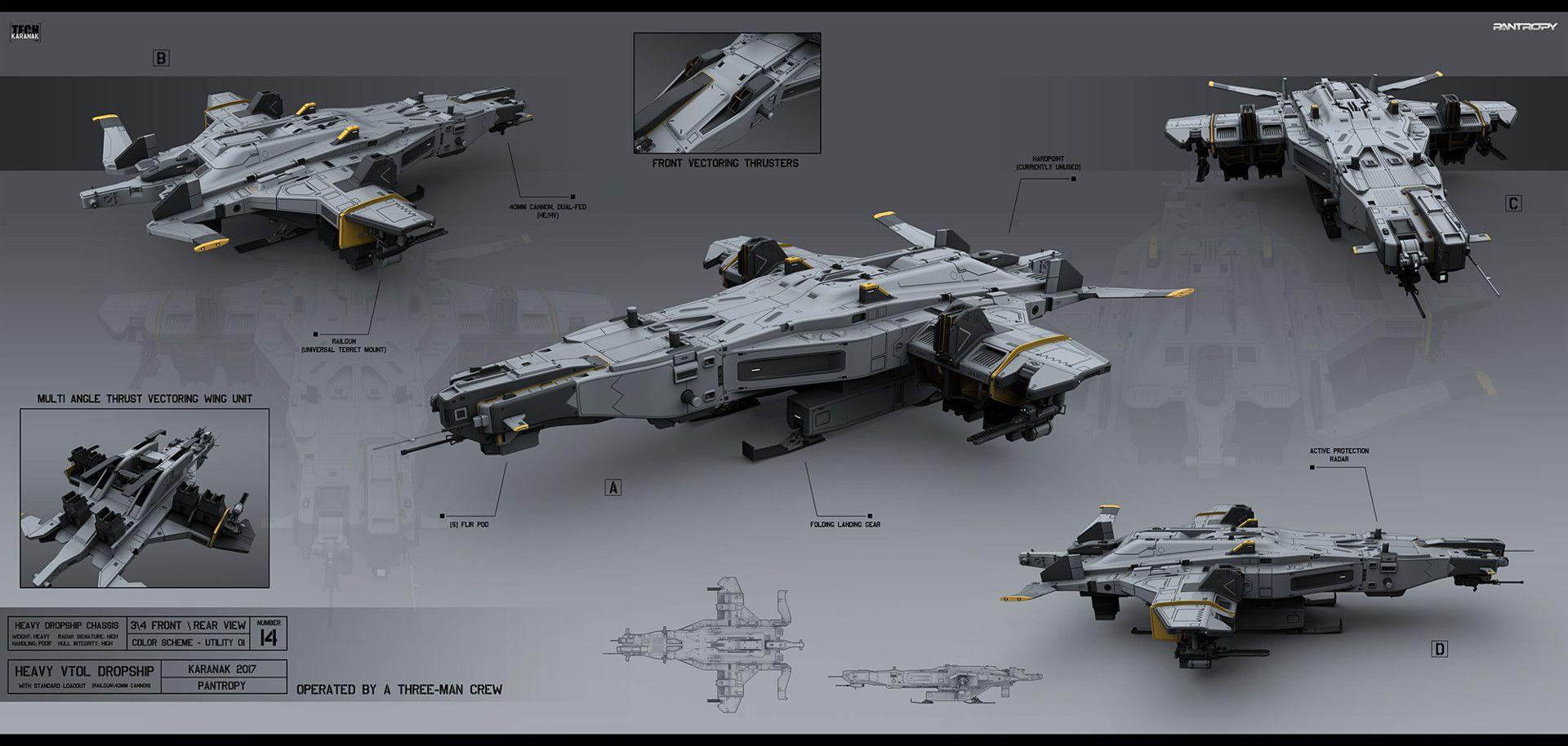 ArtStation - Heavy VTOL Dropship, Alexey Pyatov ...