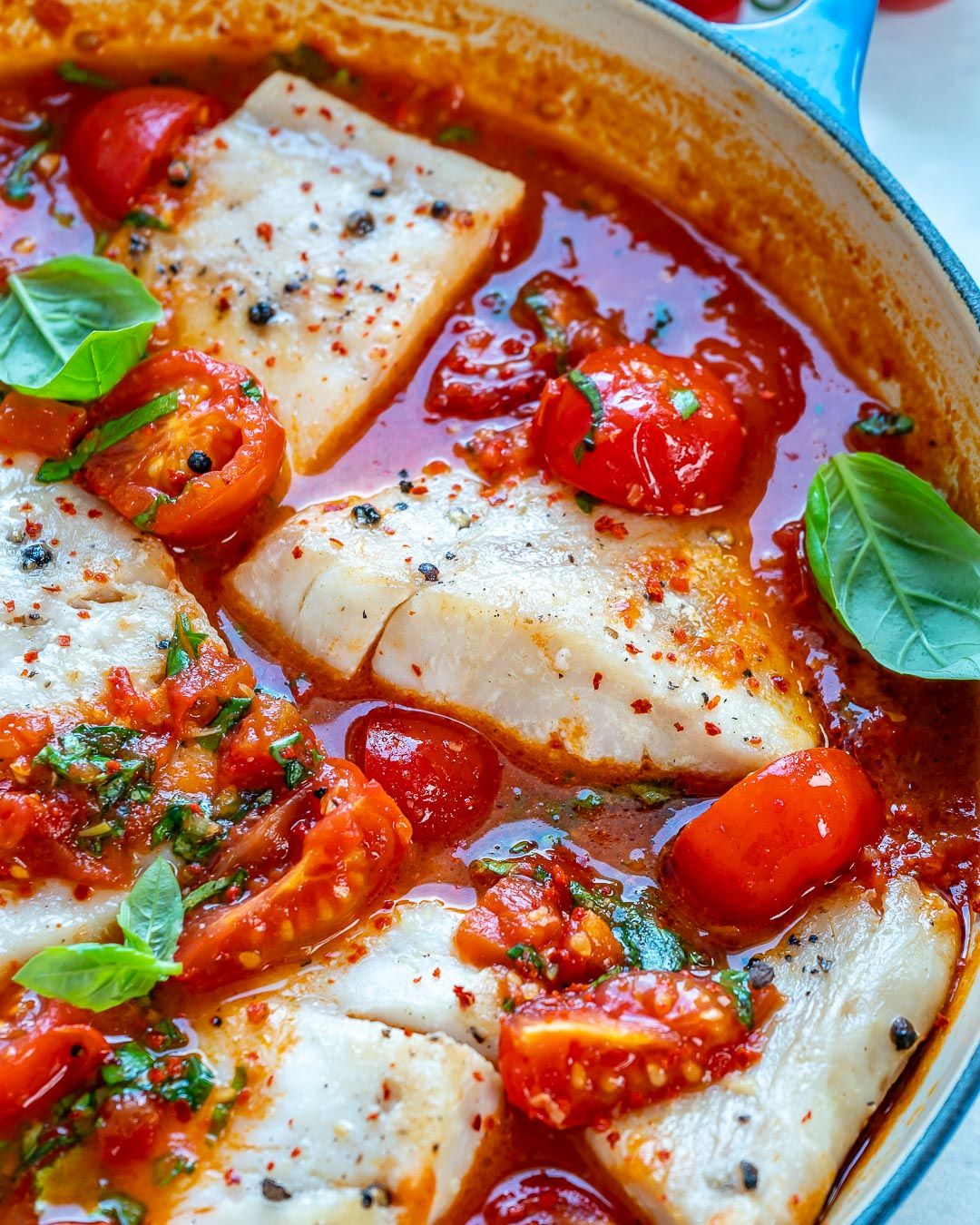 Pan Seared Cod In Tomato White Wine Sauce Recipe In 2020 Vegan Recipes Easy Recipes Clean Eating Recipes