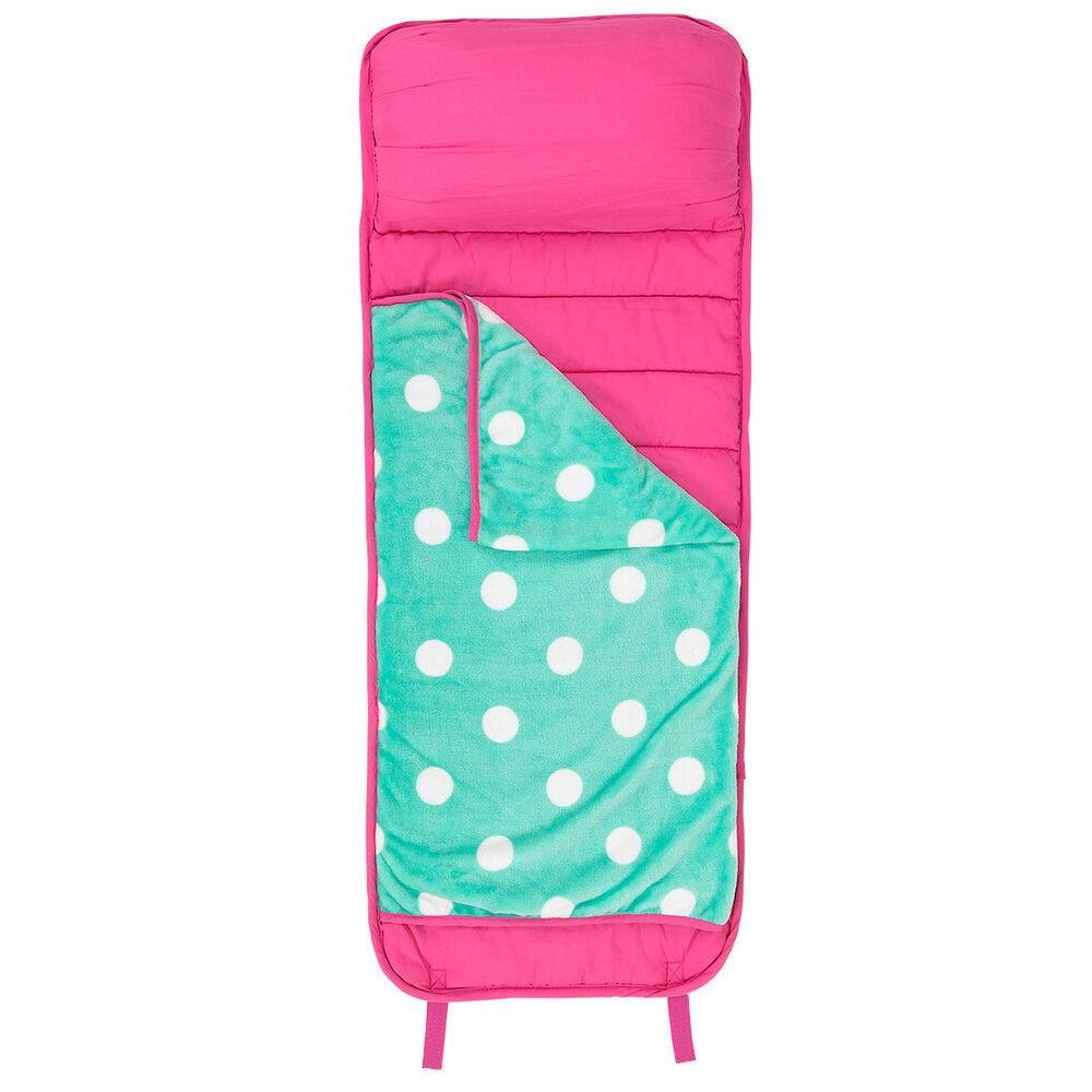 Girl S Nap Mat Pink Mint Polka Dot With Handle Amp Blanket