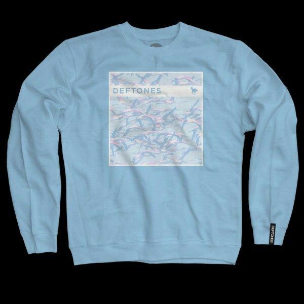 Deftones Gore Baby Blue Crewneck Sweatshirt Long Sleeve Tshirt Men Crew Neck Sweatshirt Mens Tshirts