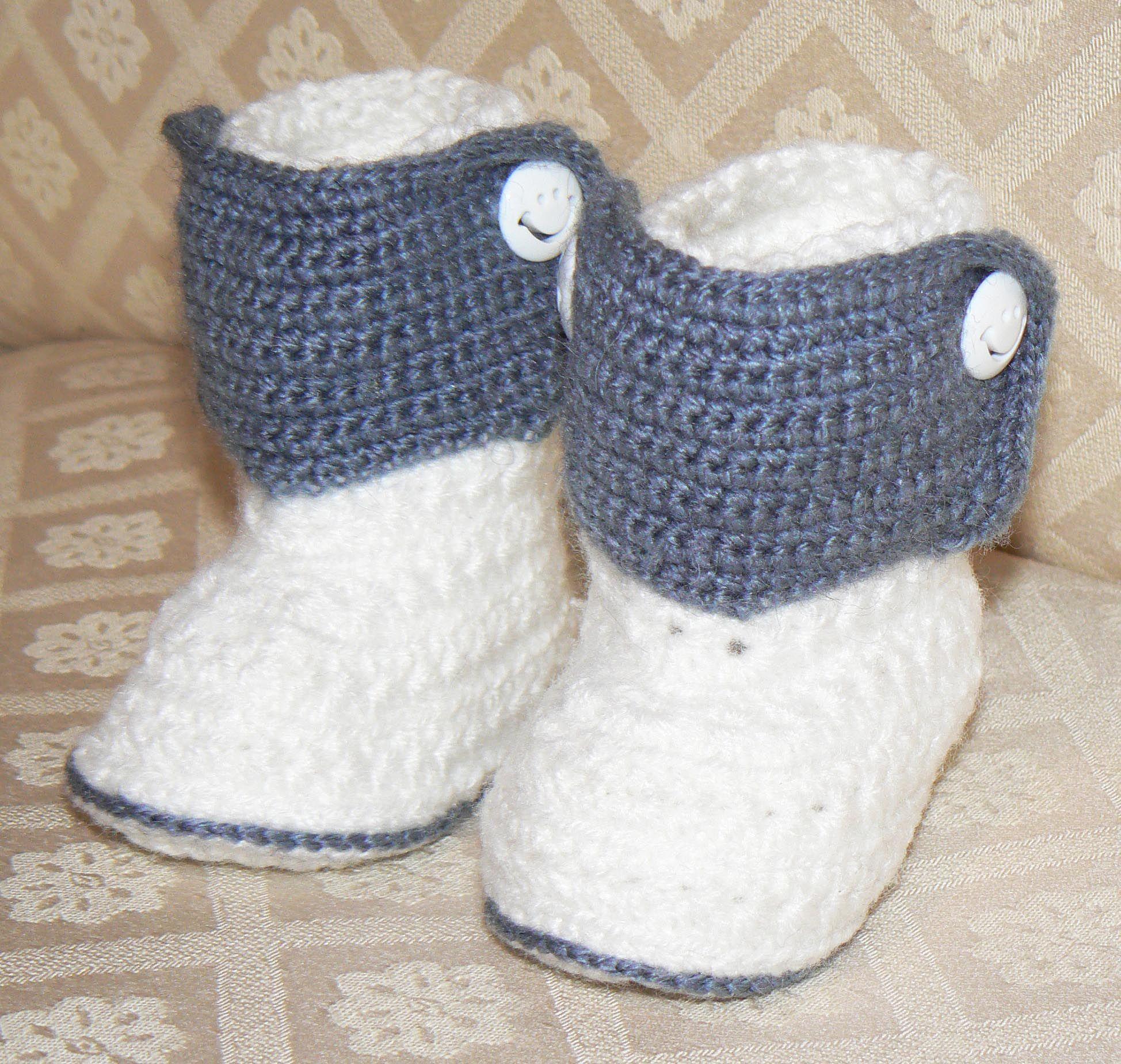 Botitas en crochet para bebe | Crochet - Zapaticos | Pinterest ...