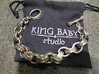 KING BABY STUDIO BRACELET W/OVAL LOGO 925 STERLING SILVER 109 gr CHOSEN K42-5096