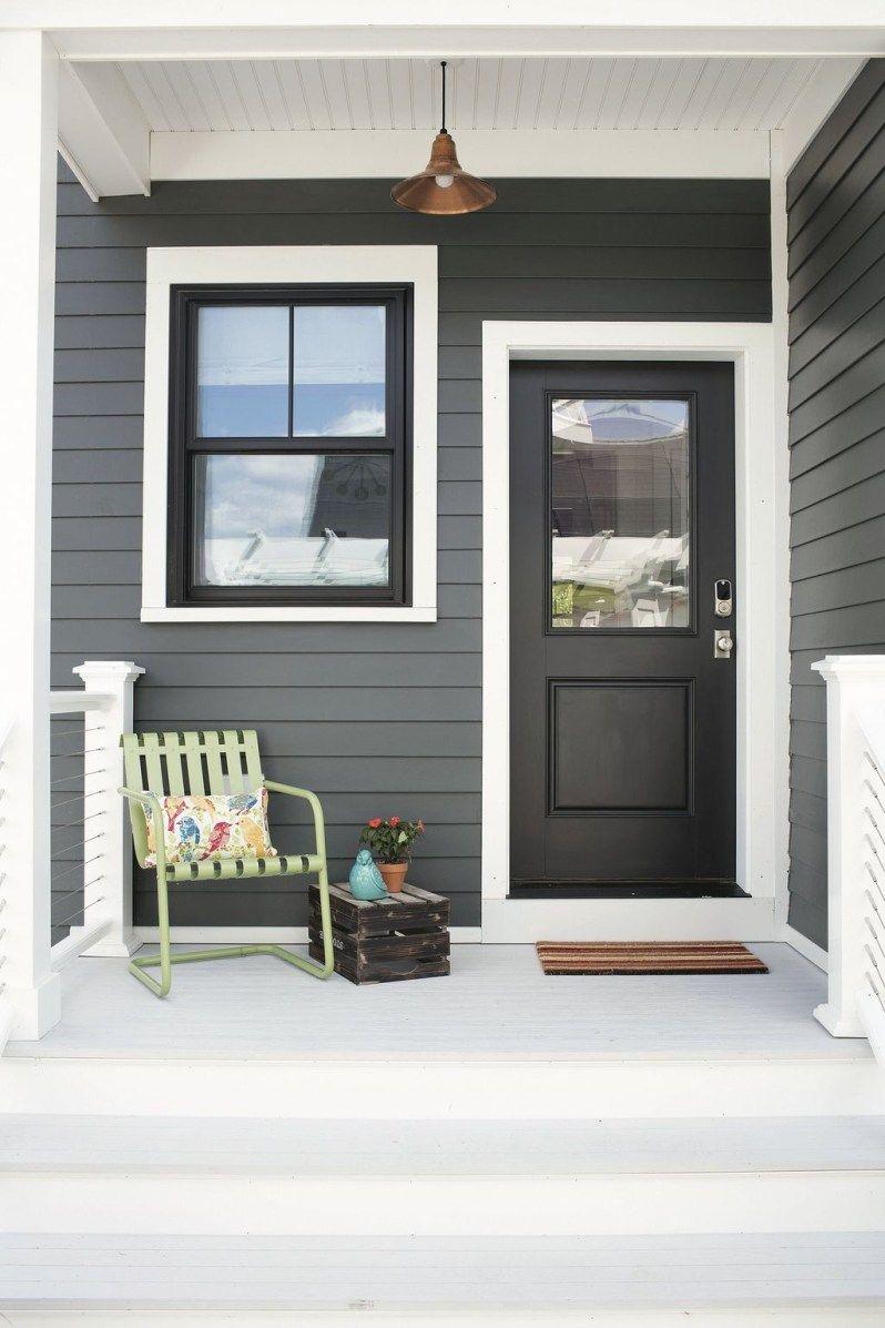 Impressive Black Window Frames Ideas 15  White exterior houses