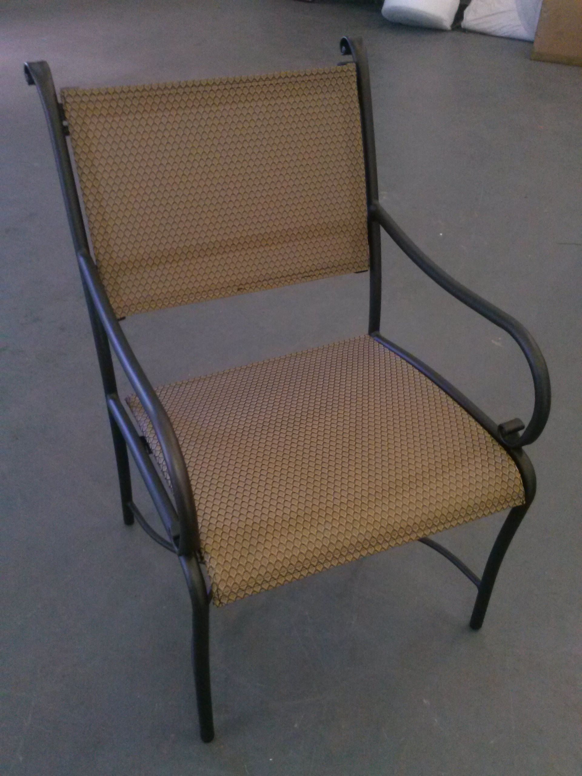 Repaired Outdoor Chair With New Sling And Powder Coating