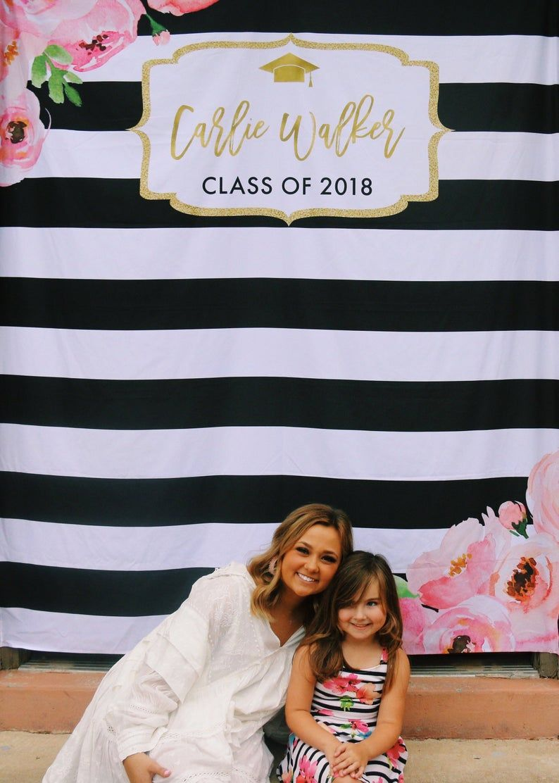 Floral graduation party backdrop graduation photo booth