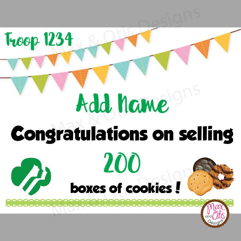 Girl Scout Printable Cookie Award Certificate Editable Pdf