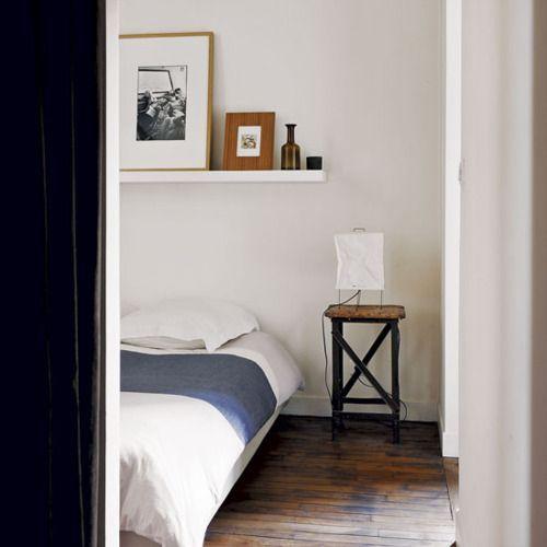 Minimalist bedroom, white, simple tones