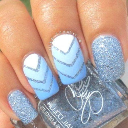 acrylic nails blue glossy matte light blue coffin nails