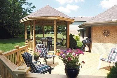 Best Open Pressure Treated Gazebo With Asphalt Shingles On A 400 x 300