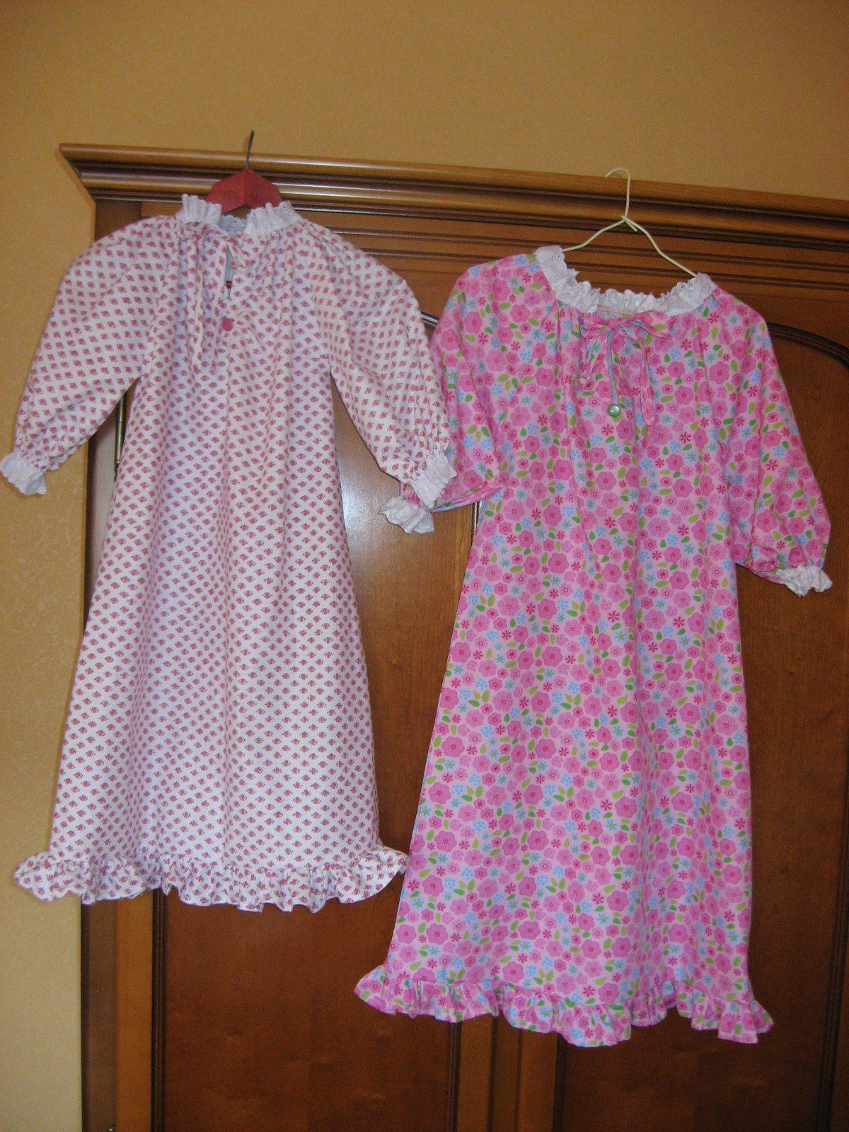 Une chemise de princesse pour fillettes tuto | Chemise de nuit, Chemise de nuit fillette et Chemise