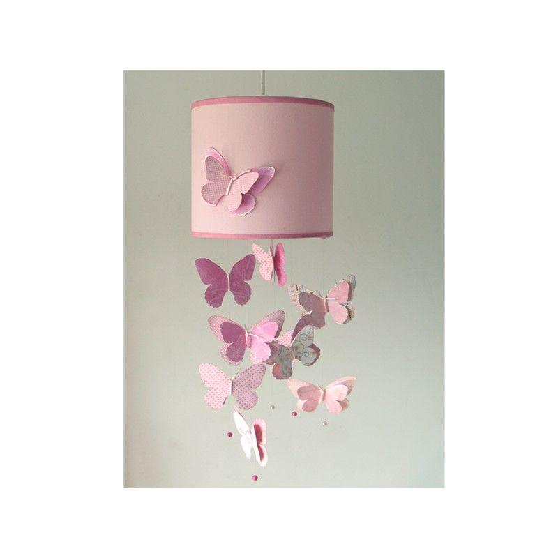 lámpara infantil techo mariposas rosa Manualidades Pinterest - lamparas de techo modernas