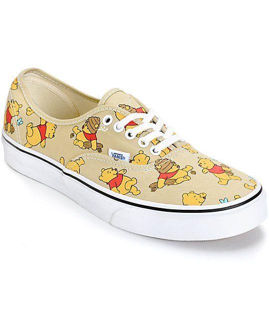 Disney x Vans Authentic Winnie The Pooh Skate Shoes   pooh