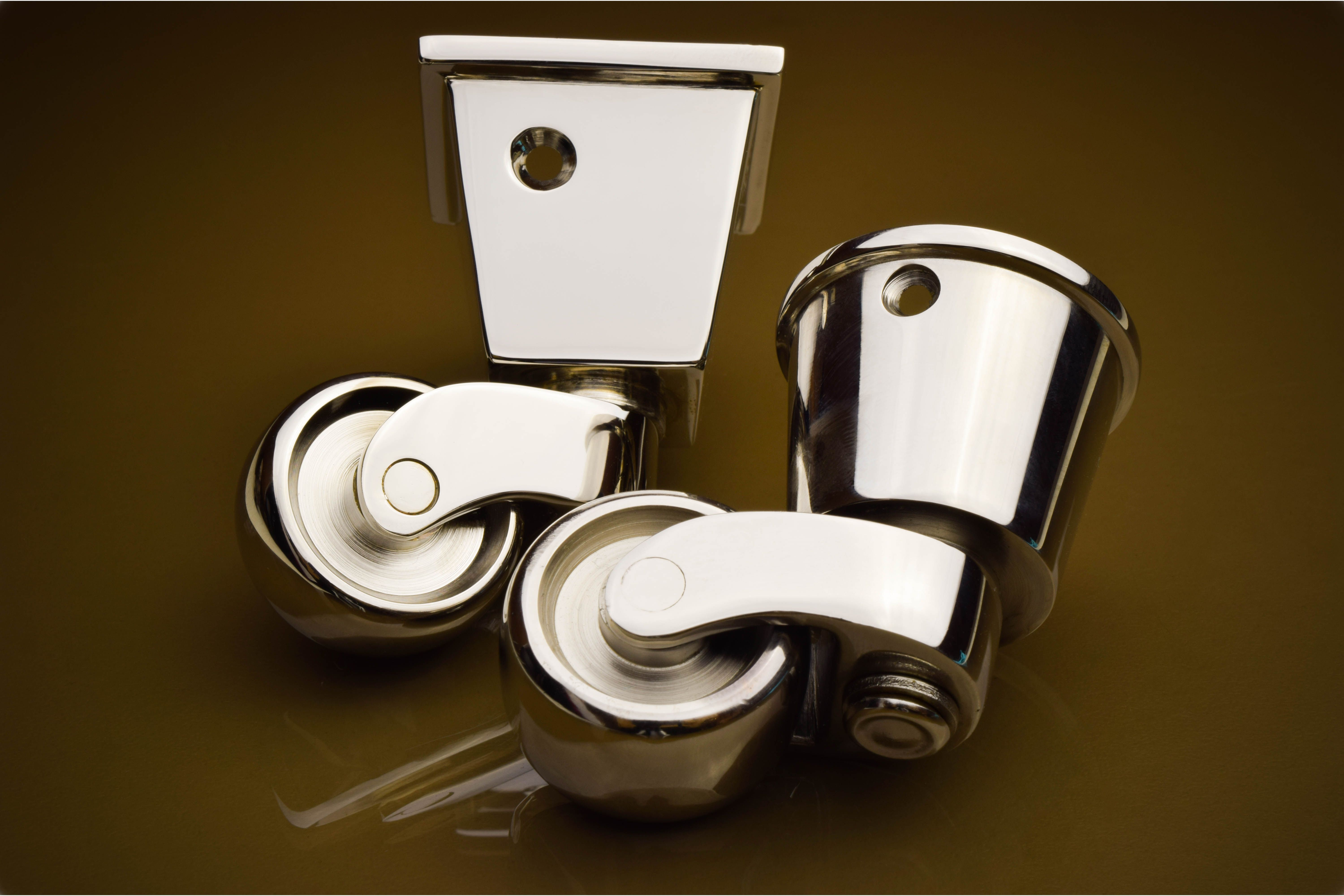 Square Cup Casters And Round Cup Casters Featured In Our Polished