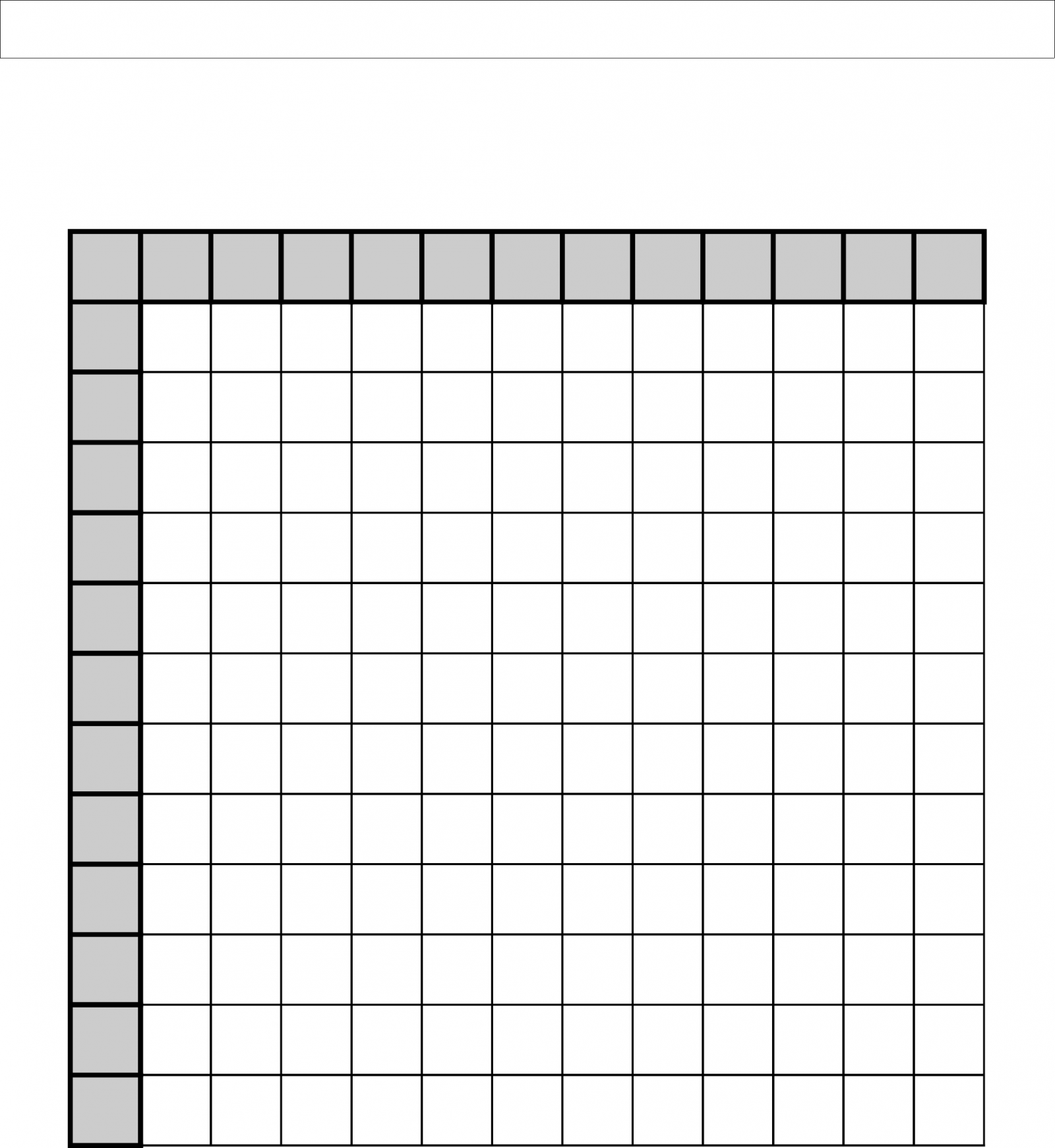Multiplication Grid Worksheets Free Download Them And Try