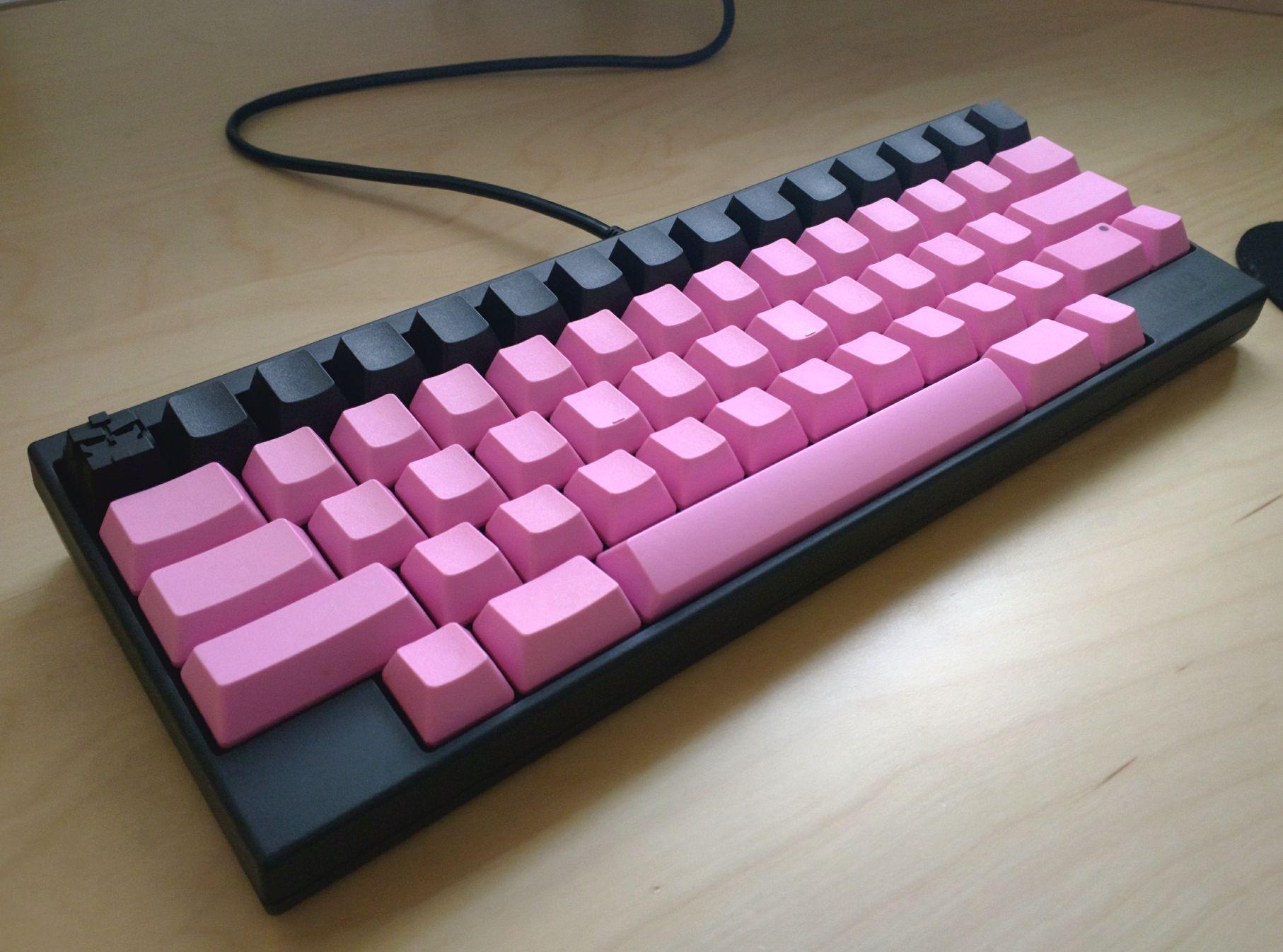 Photos Pink And Black Hhkb R Mechanicalkeyboards Custom