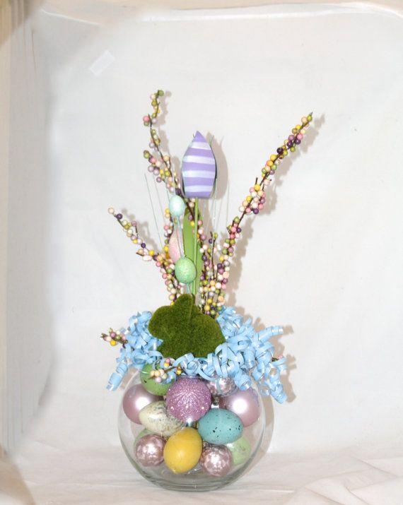 Easter bunny flower arrangement unique easter hostess gift easter bunny flower arrangement unique easter hostess gift spring tulips easter eggs moss bunny bubble bowl centerpiece negle Choice Image