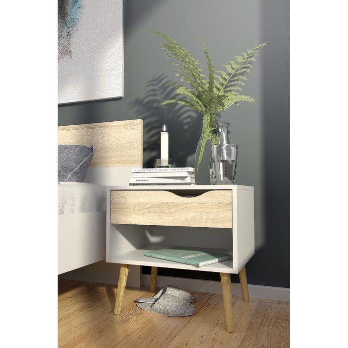 Nachttisch Oslo   Klassisches Design In Moderner Interpretation   Nachttisch  Mit Einer Ablagefläche Und Einer Schublade
