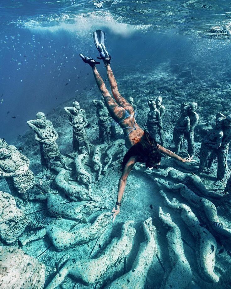 Beautiful Places Underwater: #underwater #museum #travel #ocean