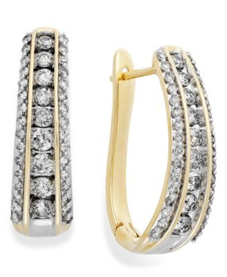2 in1 24K Yellow Gold Plated Wedding Xmas Stylish Big Square Heavy Hoop Earrings