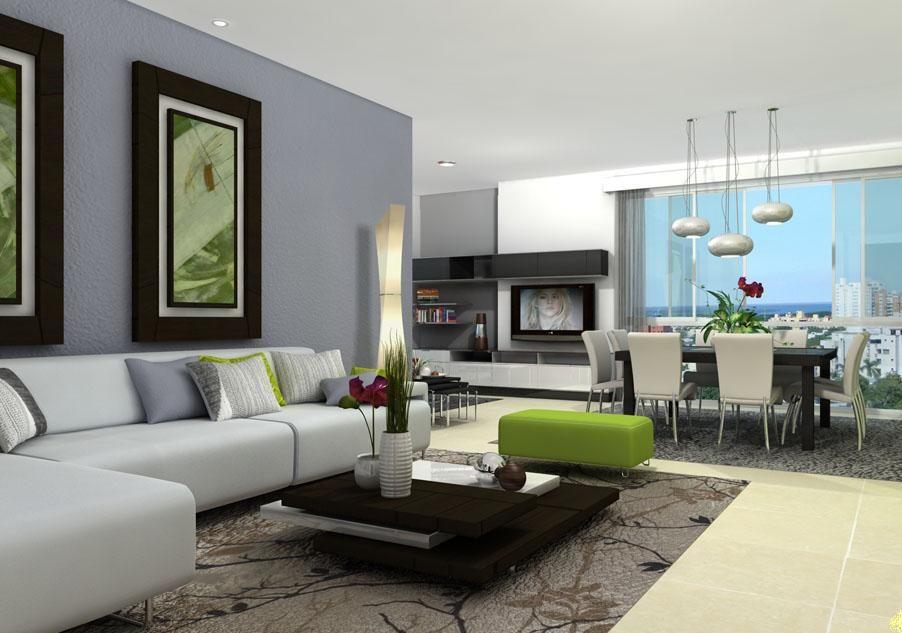 Salas modernas al estilo feng shui decorando como for Ejemplo de sala comedor