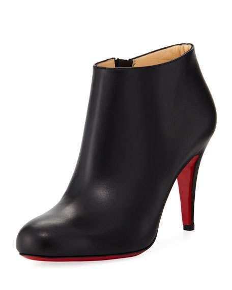d09f954b7a76 Christian Louboutin Belle Leather Red-Sole Ankle Boot