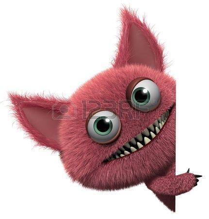 3d cartoon cute furry gremlin monster   Monsters ...