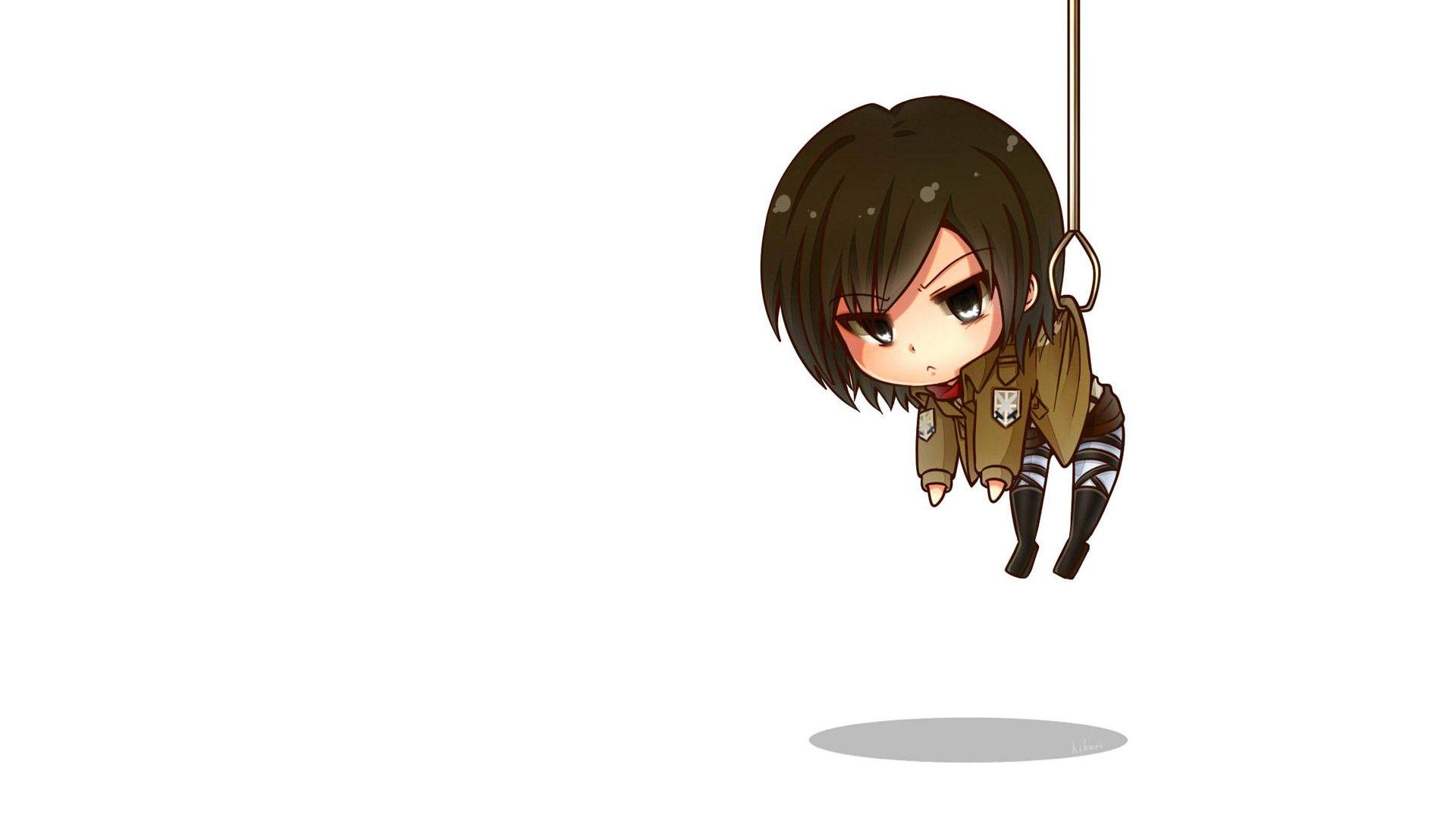 Attack On Titan Hahaha She S Hanging Chibi Wallpaper Cute Anime Wallpaper Anime Wallpaper