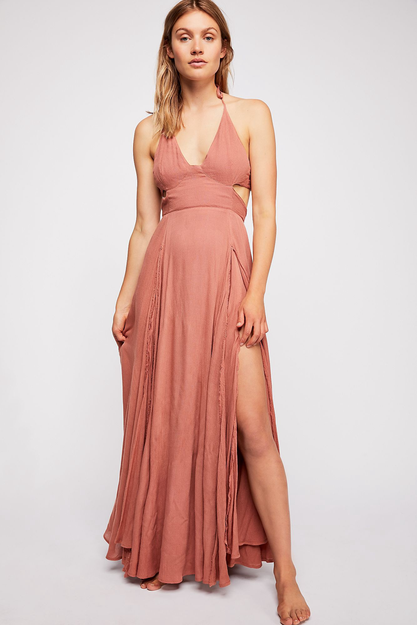 7a03057a8d4 Free People Lille Maxi Dress - Summer Bronze Xs