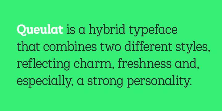 Queulat Condensed - Webfont & Desktop font « MyFonts   Let's