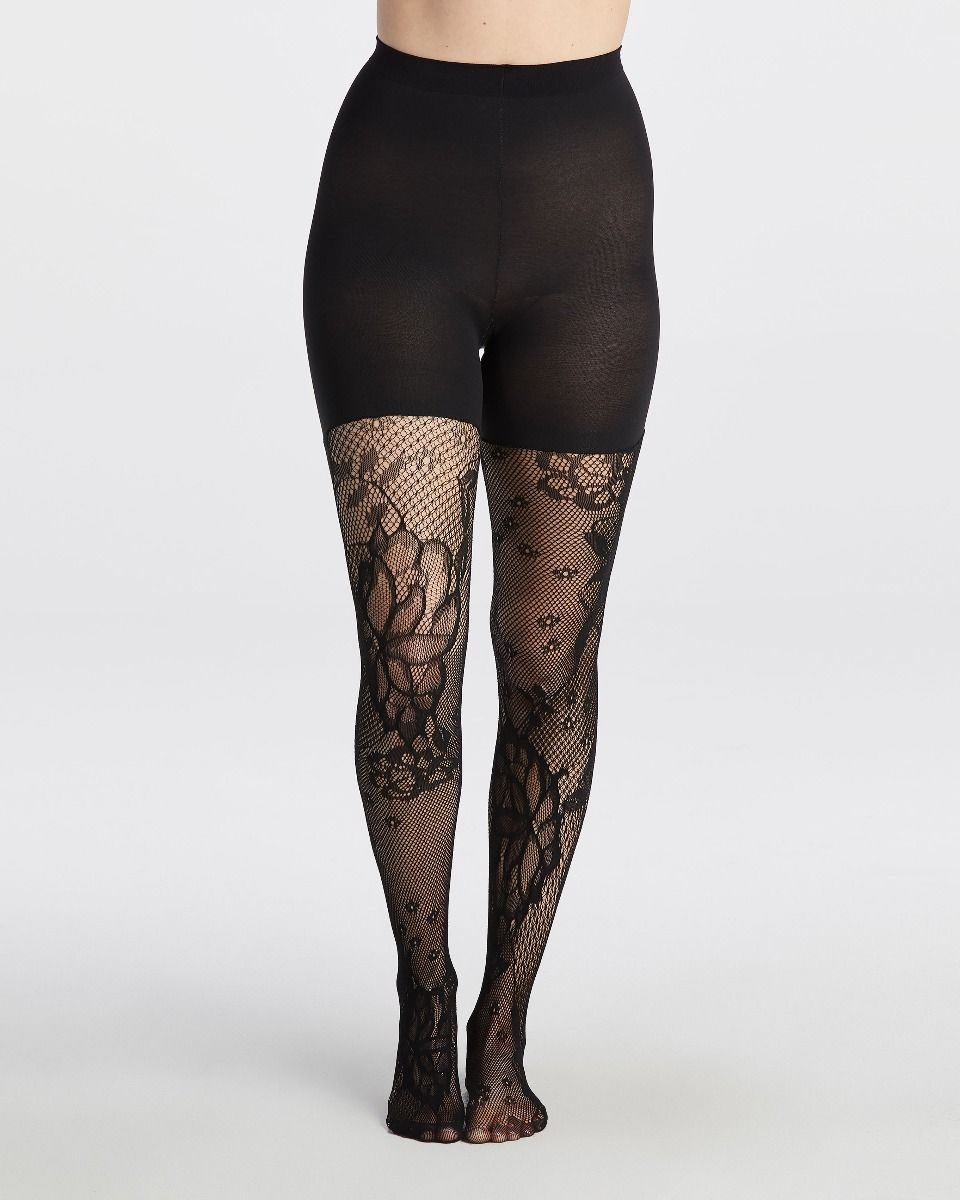 f8b93939a12 Fishnet Floral Mid-thigh Shaping Tights in 2019