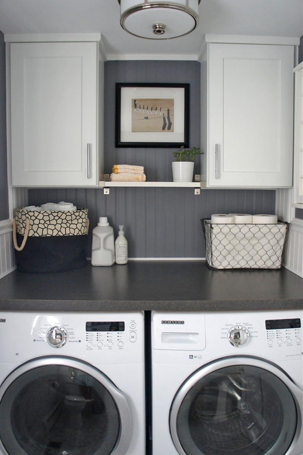 cette dame n 39 avait pas d 39 espace dans sa salle de lavage. Black Bedroom Furniture Sets. Home Design Ideas
