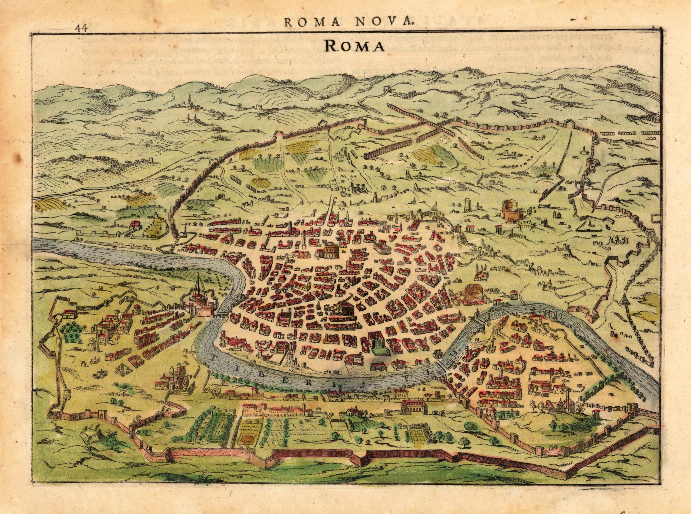 A Renaissance map of Rome with the