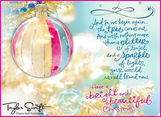 Image Detail For Taylor Swifts Beautiful Holiday E Cards From American Greetings