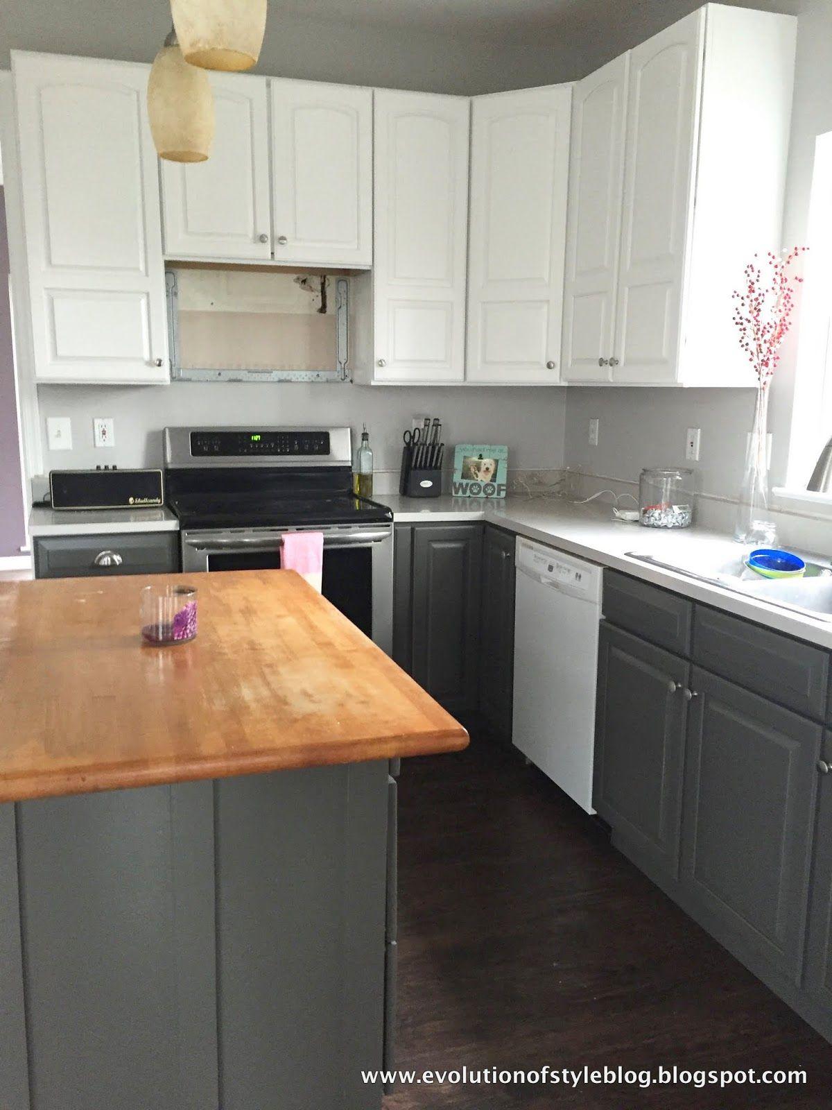 Urbane Bronze + Alabaster Kitchen Redo | Gray Paint Colors ...