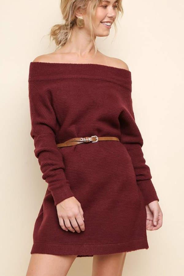 ab9b0a2a149b1 Umgee USA The Versa Sweater off-Shoulder-Dress in 2019