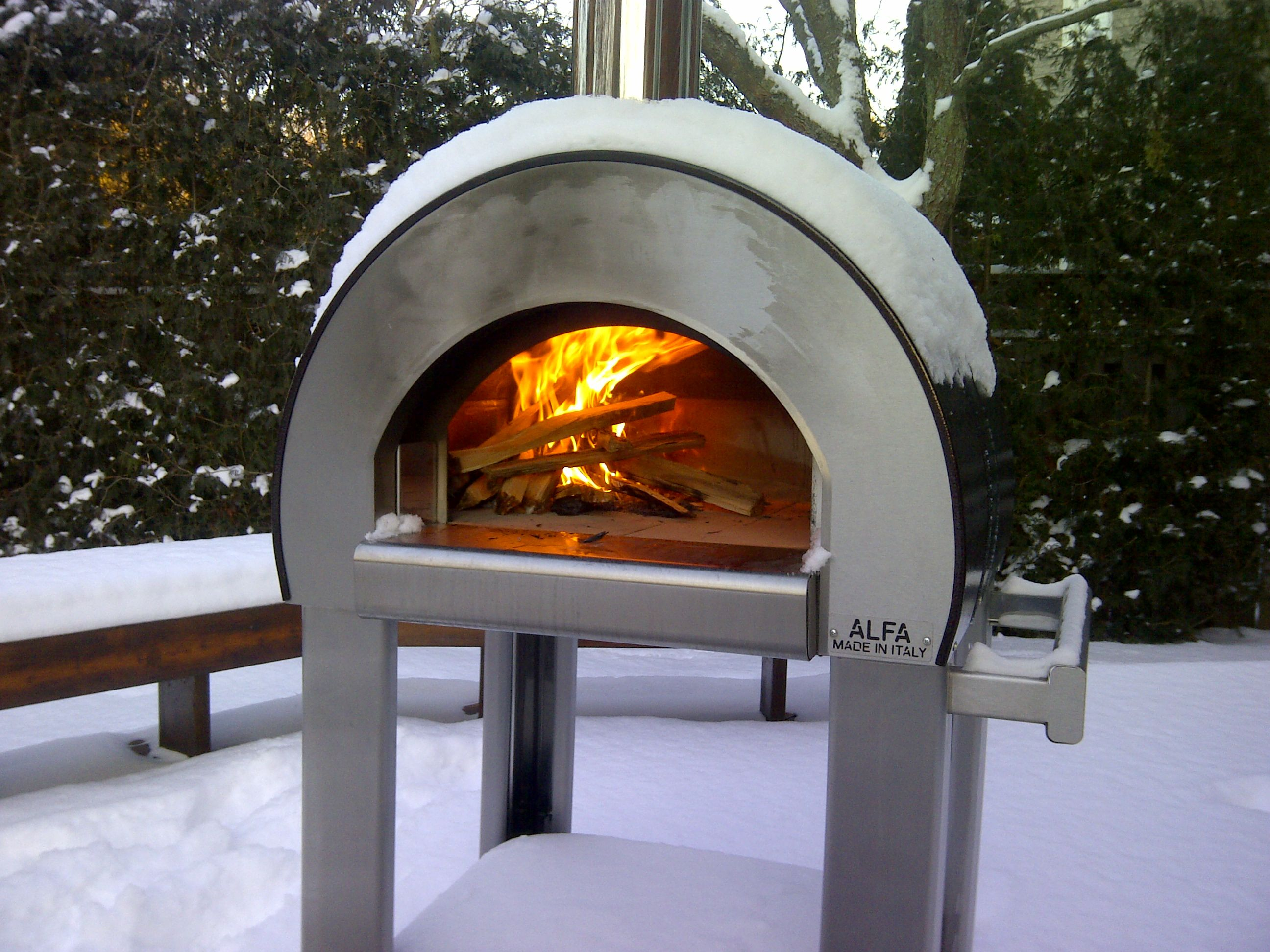 Italian Alfa Pizza Oven   Wood Burning Outdoor Portable Ovens Available In  BC By MODE CONCRETE