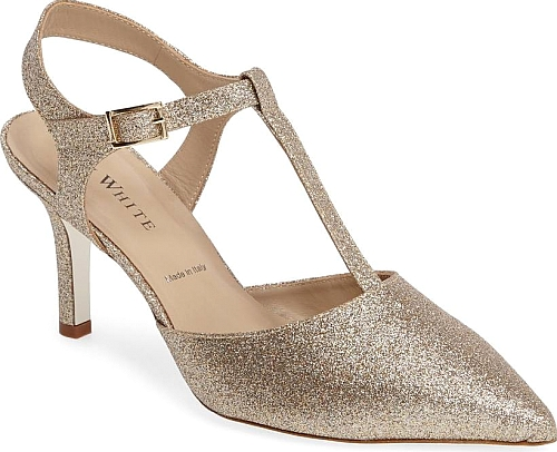 22bd2ba181d8 Ron White Women s Shoes in Champagne Glitter Suede Color. Add shimmer and  shine to your