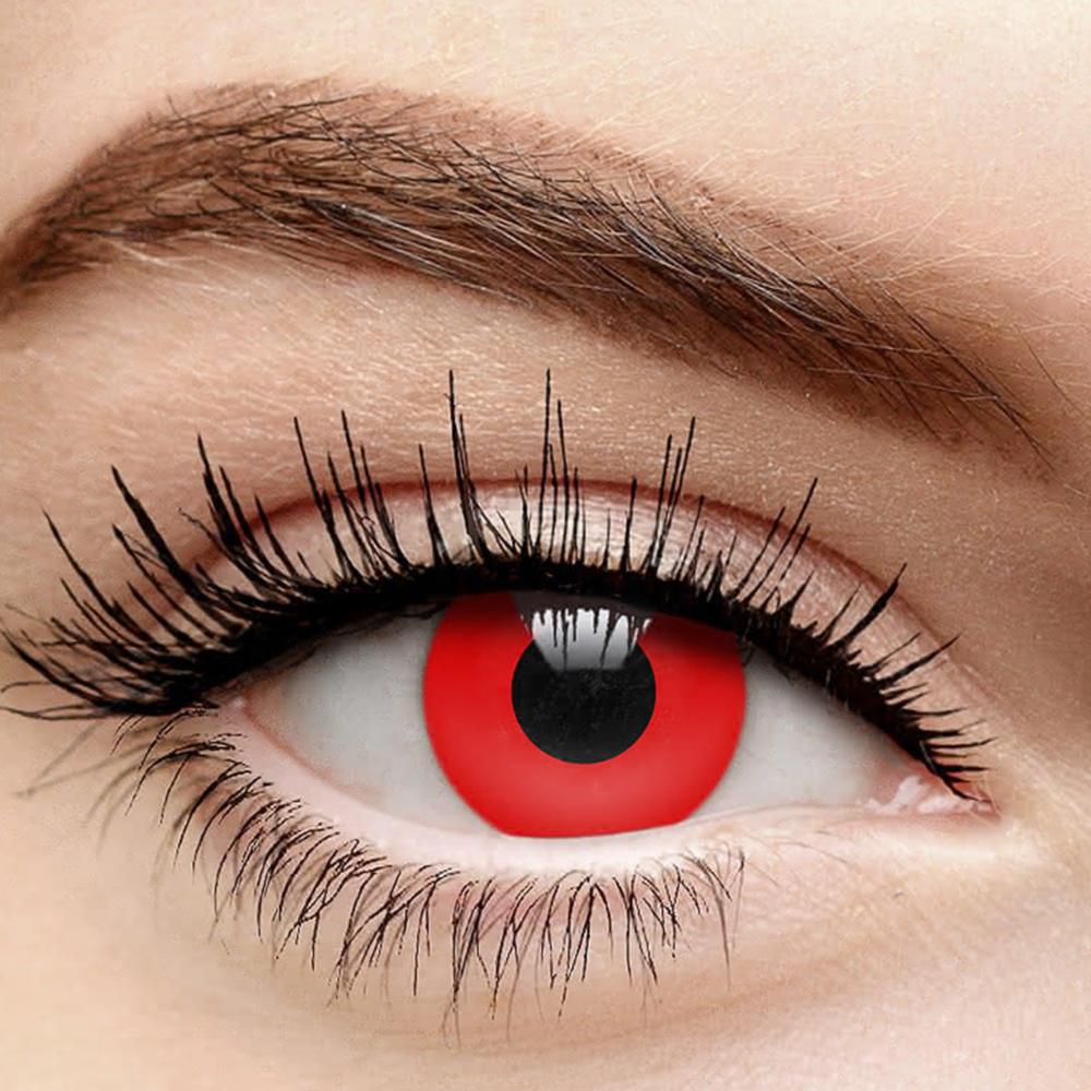 2pcs 1 Pair Red Eye Contacts Demon Eyes Demonic Red Eyes Red Eyes Contacts Makeup Tools Products Demon Eyes