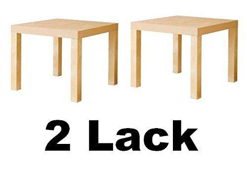 ikea lack sideend table birch effect  set of 2  ikea