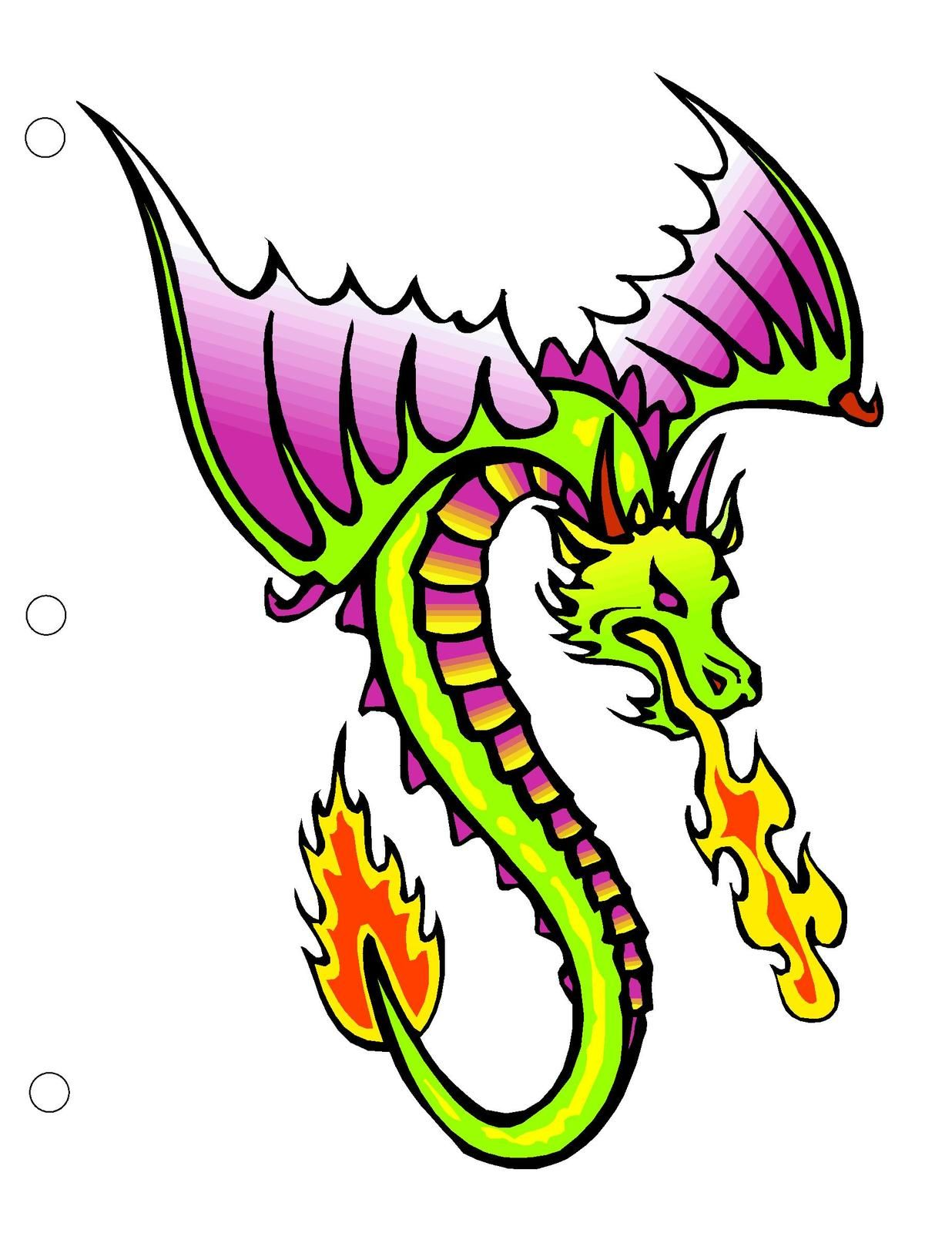Dragon0558 Binder Dividers-Digital Download-ClipArt-ArtClip