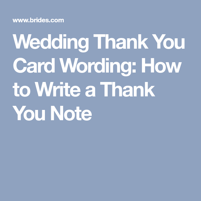 Wedding thank you card wording how to write a thank you note wedding thank you card wording how to write a thank you note junglespirit Gallery