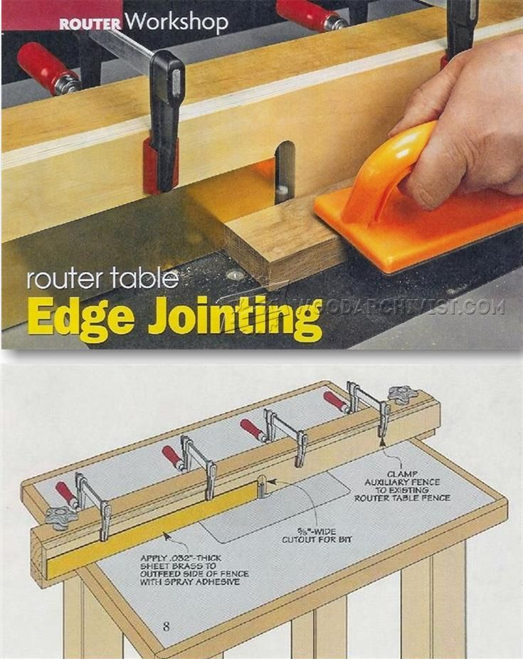 Router table edge jointing woodworking tips and for Router table guide