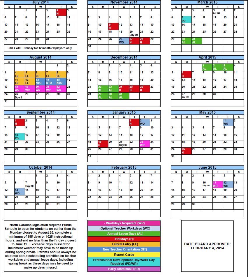 2015 calendars 2014 2015 rcs school calendar 2016 calendars